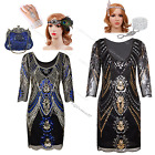 1920s Flapper Dress Vintage Gatsby Sequin Fringe Party Wedding Ladies Clubwear