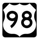 Us Route 98 Sticker R1955 Highway Sign Road Sign