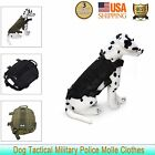 Tactical Military Dog Harness Adjustable Army Molle Service Canine Training Vest