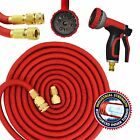 50FT/75FT/100FT/150FT Expanding Garden Hose Pipe Expandable Havy Duty With Gun
