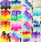 PAIRS 15M 18M BELLY DANCE 100 SILK FAN VEILS FREE SHIPPING + carry bag