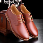 New Men's Fashion Business Casual Oxfords leather Shoes British Style Lace Up