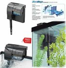 Aquarium Power Filter From 10 Up 75 Gallon Quiet Flow Fish Tank Filtration Syste