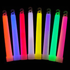 """1 10 26 50 100Pcs 6"""" 15mm Glow Sticks Thick Neon Light INDIVIDUALLY PACKAGED PP"""