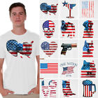 Usa flag shirt American flag t shirt 4th of July Independence Day tshirt men image