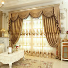 Luxury embroidered velvet Waterfall and Swag Valance curtains for living room