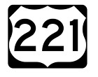 Us Route 221 Sticker R2151 Highway Sign Road Sign