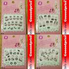 3D Lace Style White Black Design Jewelry Nail Art Stickers Party Gift Set 5-0912