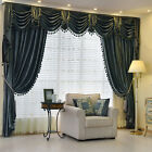 "120"" x 100"" Extra Wide Chenille Velvet Waterfall Swag Valance Curtain customize"