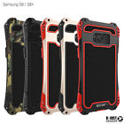 R-JUST Shockproof Carbon Fiber Metal Armor Case For Samsung Galaxy S8 & S8+ Plus