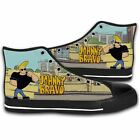 Canvas JOHNNY BRAVO Like Elvis Funny Cartoon Fashion Shoes