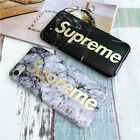 2017 Supreme Granite Marble Stone Effect IMD Soft Case For iPhone 6 6s 7 Plus