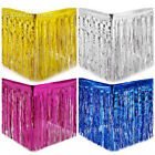 72 x 274cm Gold Silver Metallic Foil Table Skirt Fringe Party Hanging Decoration