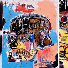 "32Wx38H"" HEAD SKULL 1981 by JEAN-MICHEL BASQUIAT Small Repro - CHOICES of CANVAS"