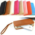 New Women Zipper Long Wallet Clutch Wristlet Card Coin Holder Purse Soft Leather