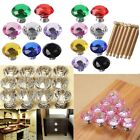 30/40/50mm Diamond Glass Crystal Cabinet Door Knob Drawer Cupboard Pull Handle