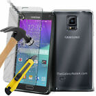 Ultra Thin Clear TPU Gel Skin Case Cover & Tempered Glass for Samsung Phones