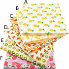 160cm*50cm fruit Cotton Fabric Sewing Baby Bedding Clothes infant linens tissue