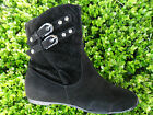 BLACK WOMEN'S ANKLE BOOTS SIZE 5.5-7.5