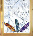 Clr:wnd - Stained Glass Feather Sticker - See-through Vinyl Window Decal ©yydc