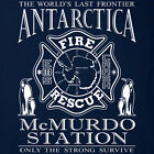 Antarctica McMurdo Fire Department Penguins T-shirt – S to 5XL Short/Long Sleeve