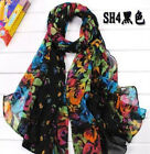 Hot Sale Fashion Stylish Women Long Soft Silk Chiffon Scarf Wrap Shawl Scarves