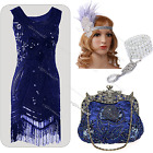 1920's Flapper Evening Dress Vintage Gatsby Clubwear Sequin Tassel Party Costume