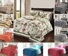 Luxury Soft Printed Quilted Bedspread Bed Spread Throw Double King