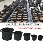 3-60 pcs 2-10 Gallon Fabric Pots Plant Pouch Root Container Grow Bag Container