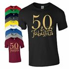 50th Birthday Gift T-Shirt Made In 1968 King Queen 50 Fabulous Crown Mens Ladies