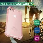 Slim Crystal Clear Pink Girly Case Hard TPU Protector Cover For iPhone 7 7Plus