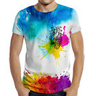 "Fashion Men's Full Printed 3D T-shirt. EU Sizes: XS - 7XL ""Heart Art"""