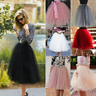 Women Girls Princess Ballet Tulle Tutu Skirt Wedding Prom Rockabilly Mini Dress