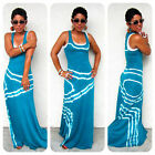 US seller Women Summer Sleeveless Evening Party Beach Long Maxi Sundress Dress