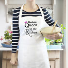 Personalised Queen of The Kitchen Apron. Gift. Mum/Sister/Daughter.