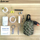 Multi Purpose Survival Tools Paracode Rescue Cord Fishing 12 in 1 Survival Kit