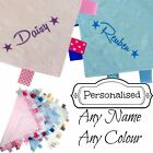 PERSONALISED BABY TAGGY TAGGIE BLANKET COMFORTER BOY GIRL GIFT TAG SOFT UNIQUE