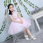 Pink Flower Girl Dress Bridesmaid Wedding Pageant Graduation Party TuTu Dress