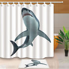 Great White Shark Bathroom Shower Curtain Waterproof Fabric w/12 Hooks 71*71in