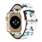 British rural style Flower Genuine Leather Strap Band for Apple Watch series 1/2