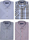 Tom Hagan Mens Checked Shirt Short Sleeves Casual Shirts Medium To XXL