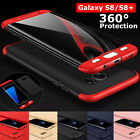 360° Full Cover Shockproof Hybrid Armor Thin Hard Case F Samsung Galaxy S8 S8+