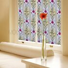 3D Static Cling Decorative stained Glass Privacy Vinyl Window Film flow No-glue