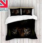 3D Digital Print Tiger Eyes Duvet Cover Quilt Cover Bedding Single, Double, King