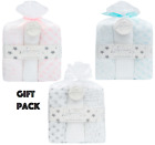 3x Pack BabyTown Soft 100% Cotton Muslin Baby Burp Cloth Swaddle Blanket Gift
