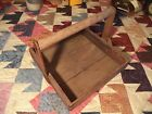 Nice Old Antique Primitive Wood Berry Fruit Wooden Picking Tray Crate Box фото