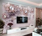 Custom photo wallpaper 3D mural exquisite luxury jewelry flowers soft installed
