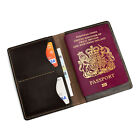 Personalised Genuine Leather Passport Holder Travel Wallet Pass Sleeve