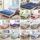 3 Size Bed Fitted Sheet Elastic Sheets Single Twin Full Queen King Bedding Cover image