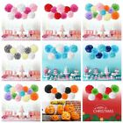 "9 Mixed 8"" 10"" Tissue Paper Pompom Pom Pom Flower Ball Garland Wedding Party Dec"